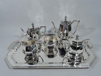 antique tiffany art deco modern sterling silver co