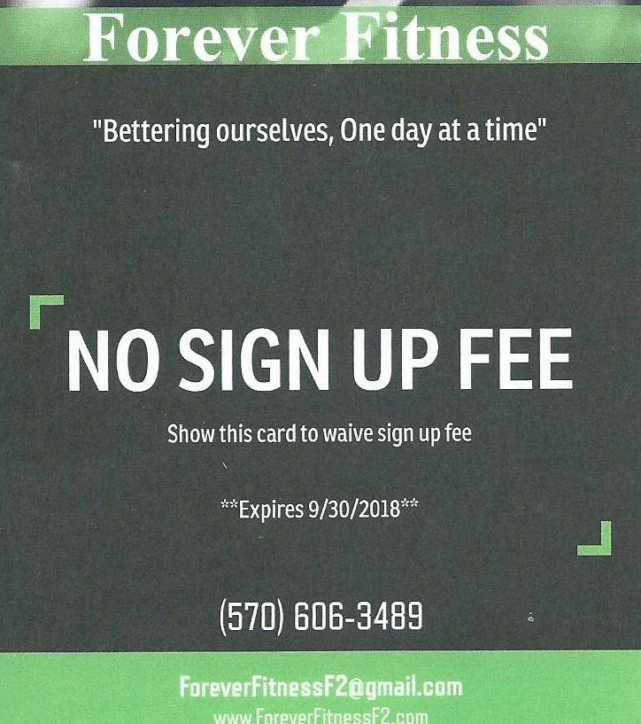 Forever Fitness(F2) - No sign up fee - $25.00 limited membership