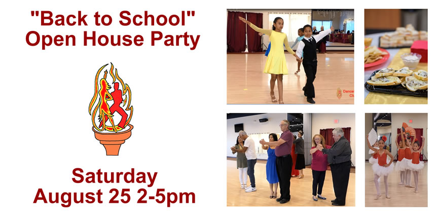 """Back to School"" Open House Party at DanceSport Club on august 25, 2018"