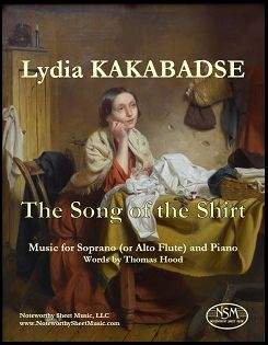 The Song of the Shirt for Soprano (or alto flute) & Piano by Lydia Kakabadse