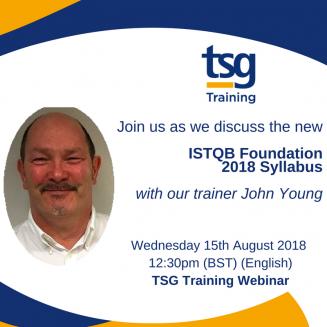 TSG Training Webinar 15th August at 12.30