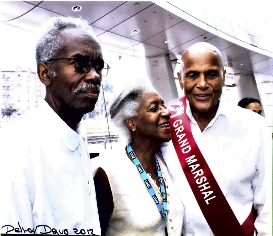 Bill Howard and wife with Harry Belafonte