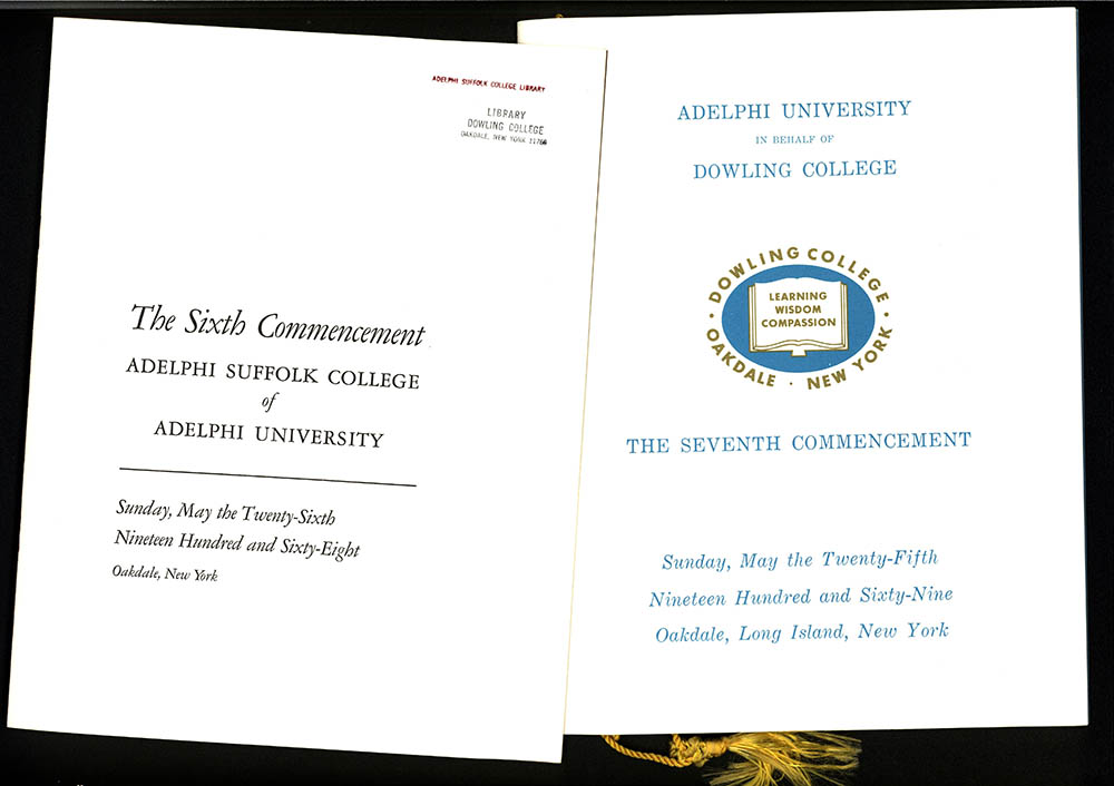 Adelphi Suffolk College's and Dowling College's Commencement Programs, 1968-1969