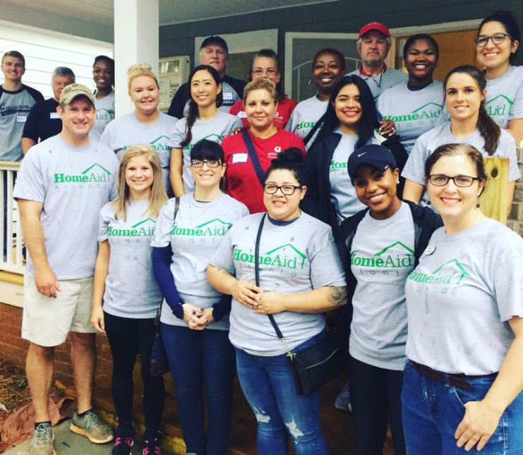HomeAid Care Day volunteers on August 2, 2018