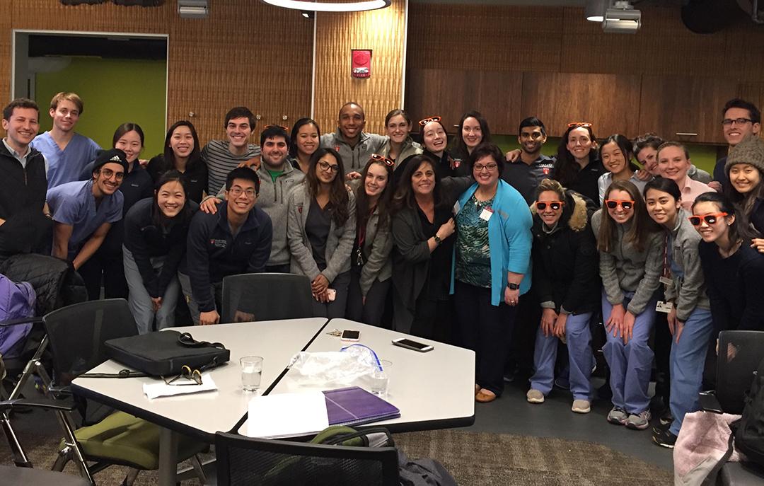 IPPF Patient Educator Becky Strong (center) at Harvard School of Dentistry