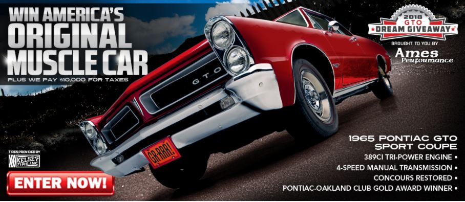 The GTO Dream Giveaway ends soon and one person will win this rare 1965 GTO.
