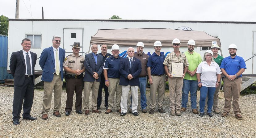 Trace Creek Construction receives the Governor's Safety & Health Award