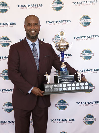 Roger Caesar  Represents District 86 Toastmasters In the World Championship