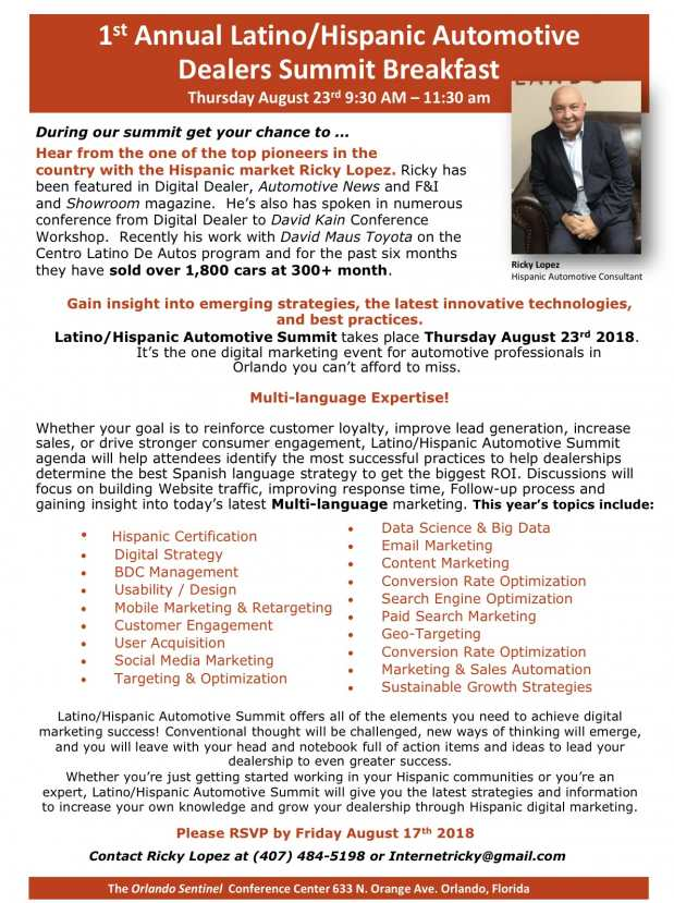 1st Annual Latino/Hispanic Automotive Dealers Workshop