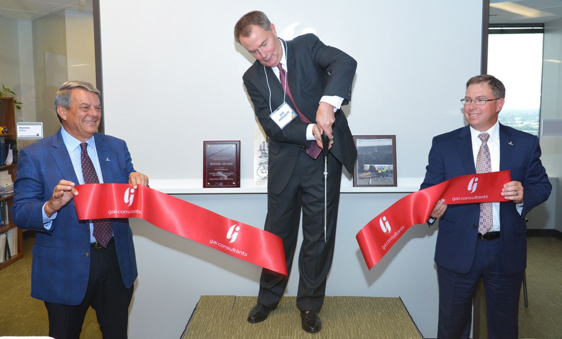 Mayor Hogsett officially opens GAI Consultants' downtown Indianapolis office