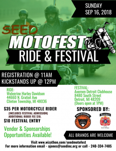 SEED MotoFest Ride and Festival