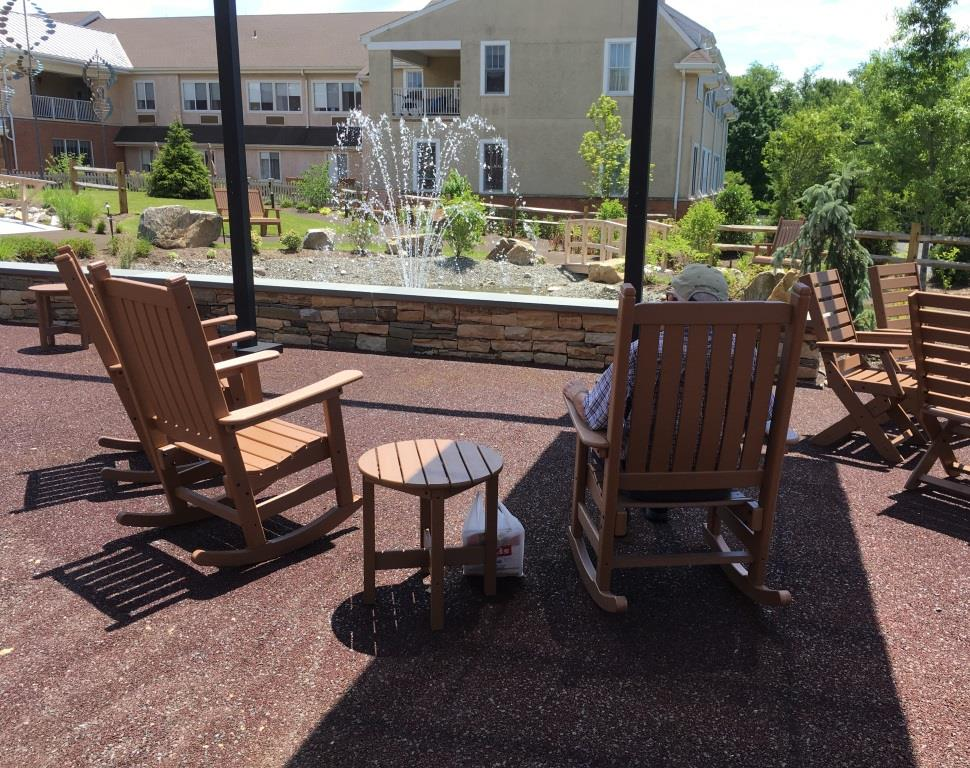 The 2,900-square-foot Porous Pave patio for relaxation, recreation and exercise
