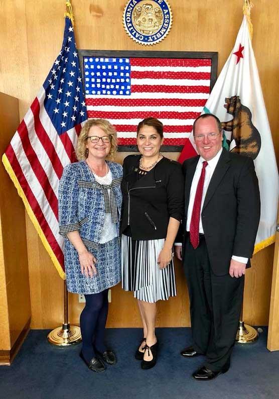 Katrina Foley, Sharon Quirk-Silva and John Stephens