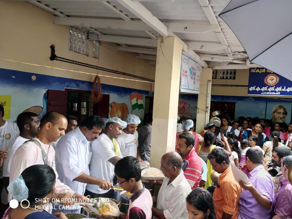 Serving the food for people