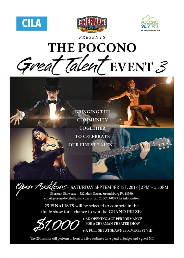 Pocono Great Talent-3 Auditions
