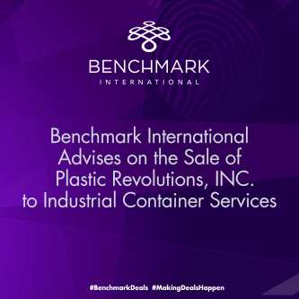 Benchmark International Facilitates the Sale of Plastic Revolutions