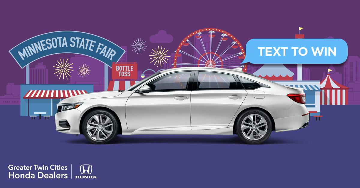 GTCHDA will be giving away two all-new 2018 Accords at the Minnesota State Fair.