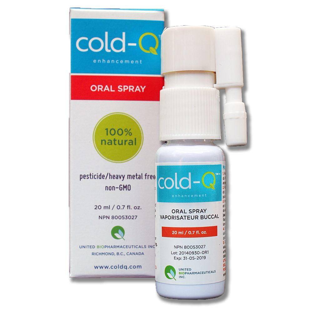 Cold-Q natural oral spray for cold and flu