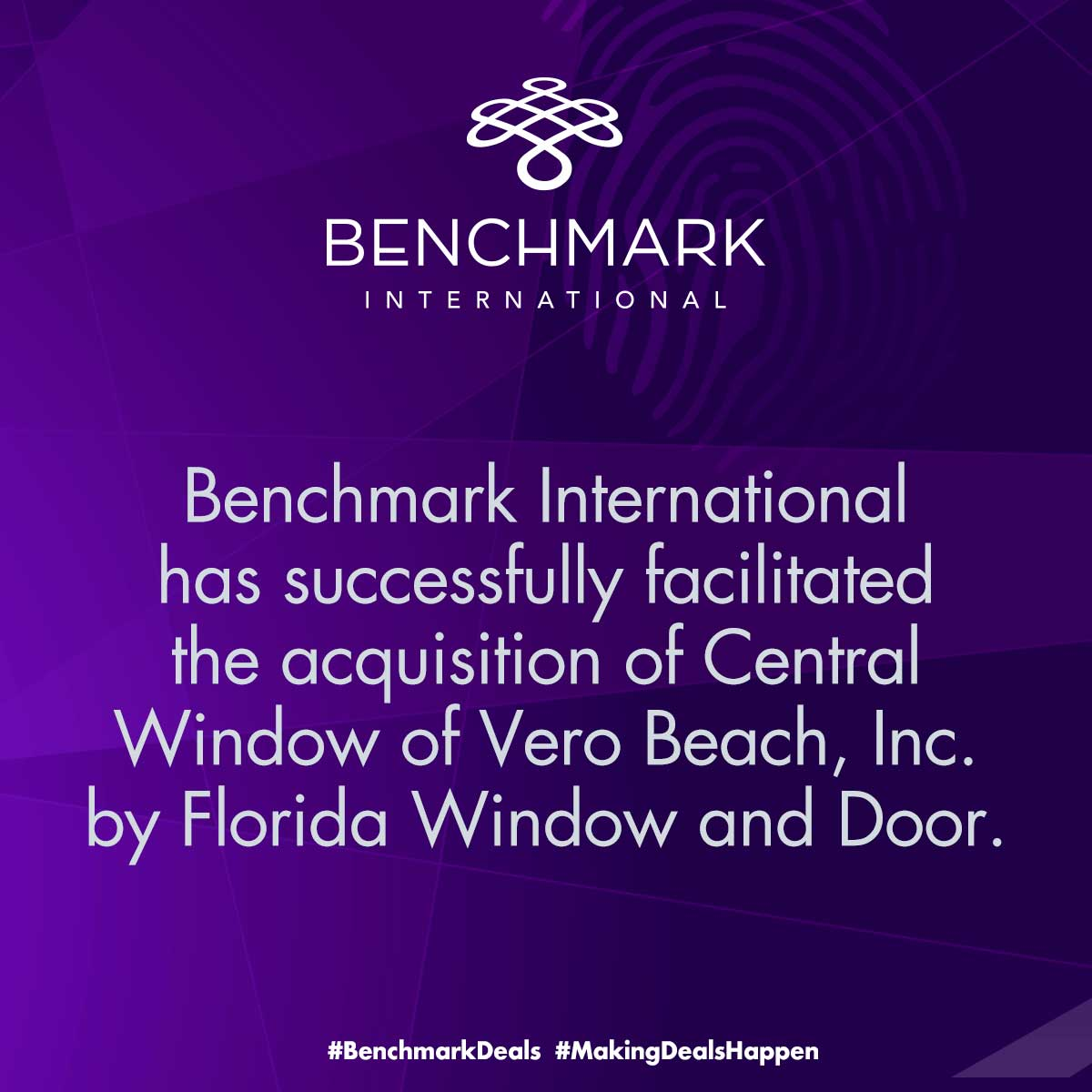 Benchmark International facilitates sale of Central Window
