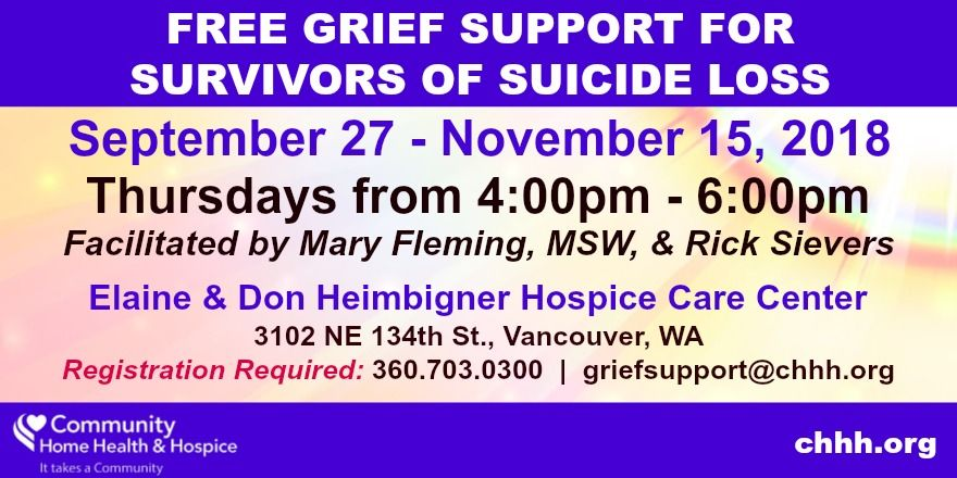 Free Bereavement Support - Clark County