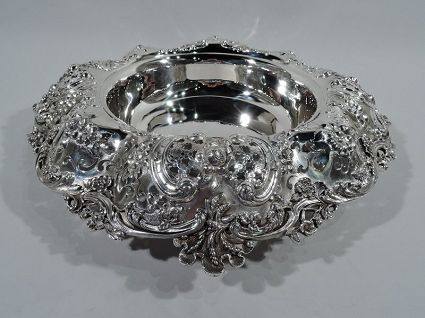 gilded age antique sterling silver bowl by tiffany
