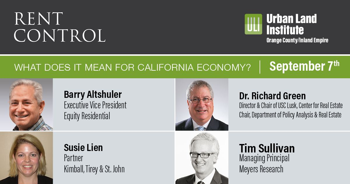 The ULI OC / IE Council will host a panel discussion, on September 7th.