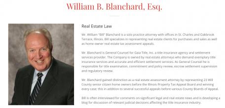 Attorney Profile of William B Blanchard