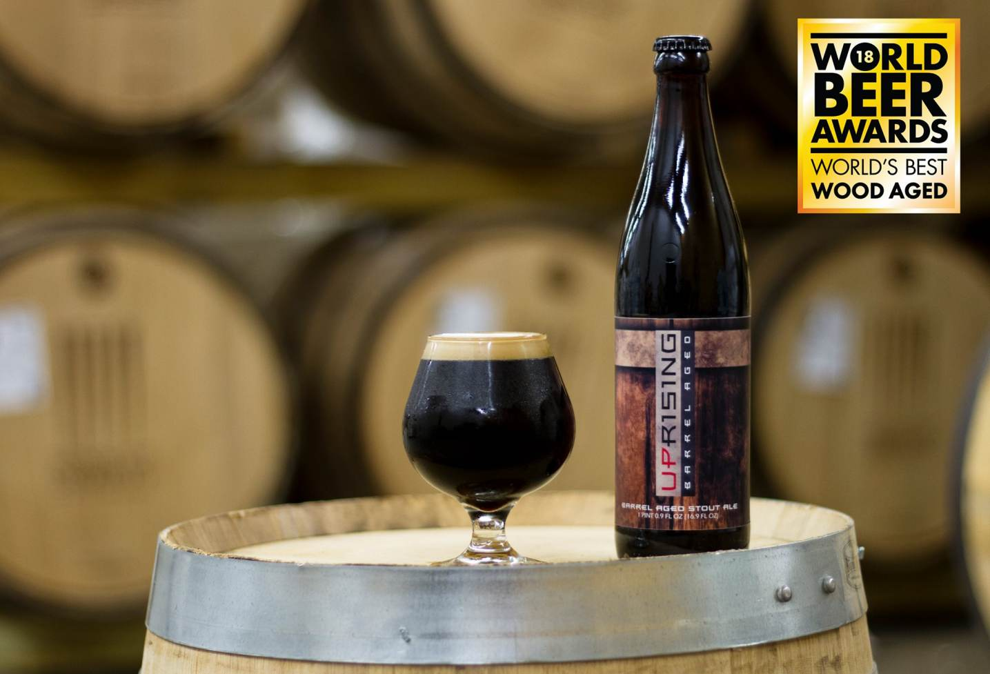 Barrel Aged Uprising Stout Ale - World's Best Wood Aged Beer