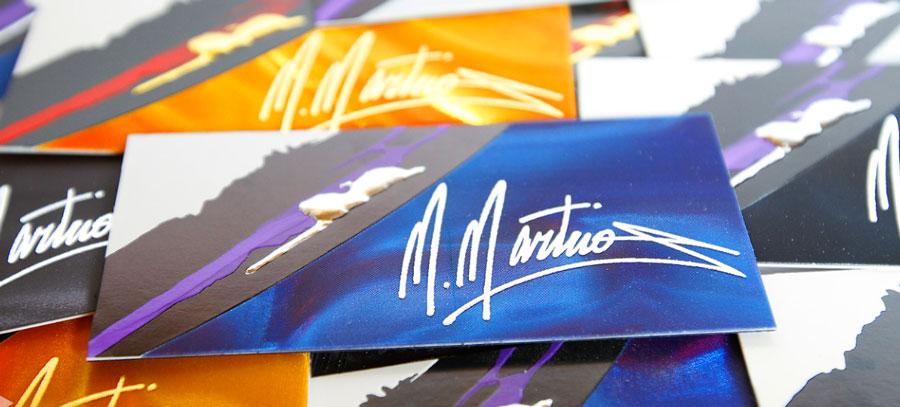 Pressman printing and letterpress pressman incorporated prlog embossed foil stamped business cards reheart Images
