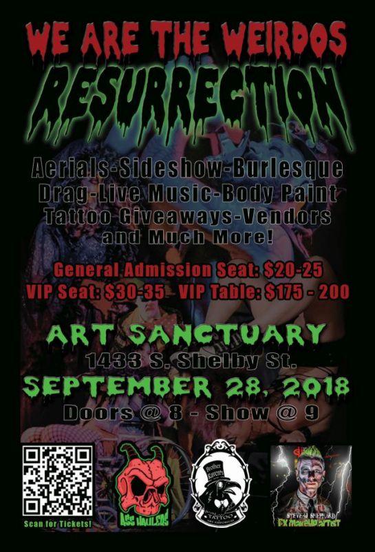 We Are the Weirdos: Resurrection Flyer