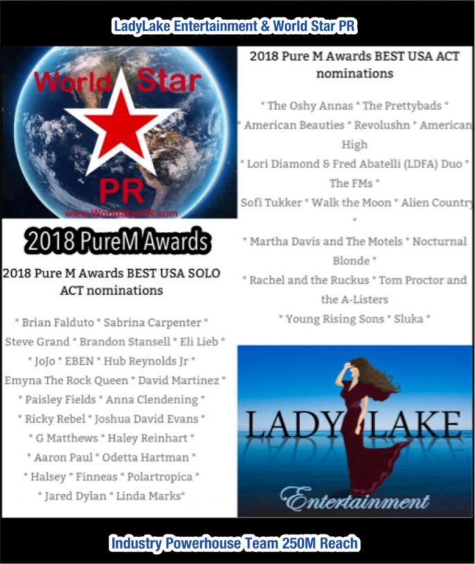 2018 PureM Magazine USA Music Awards