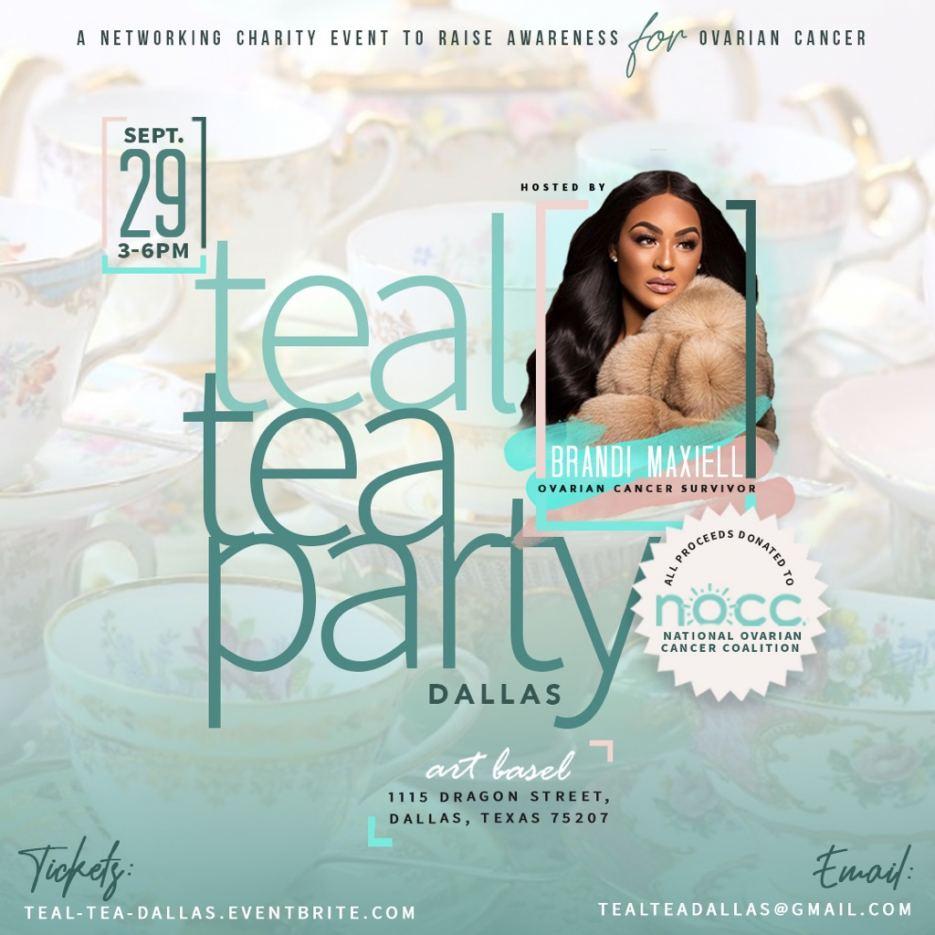 Teal Tea Event Flyer