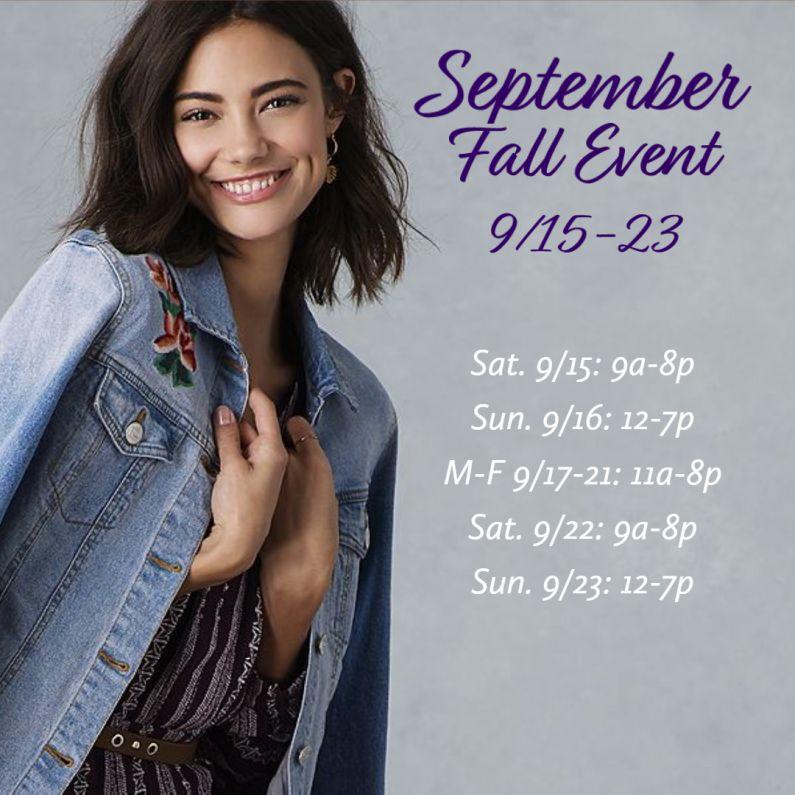 CWS September Fall Event