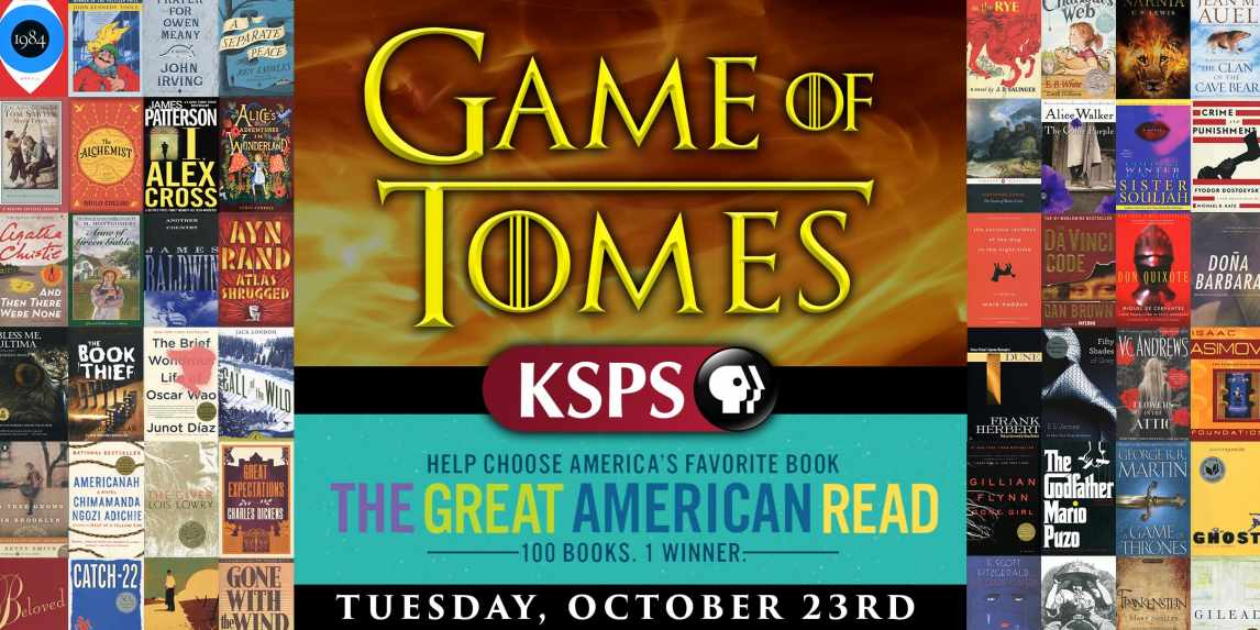 Game of Tomes KSPS Great American Read Finale Watch party