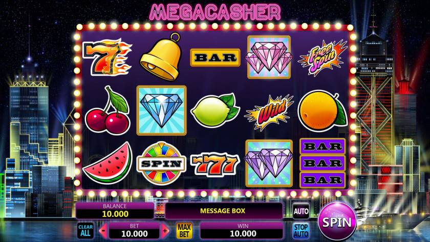"Graphic design of the online slot ""Mega Casher"""