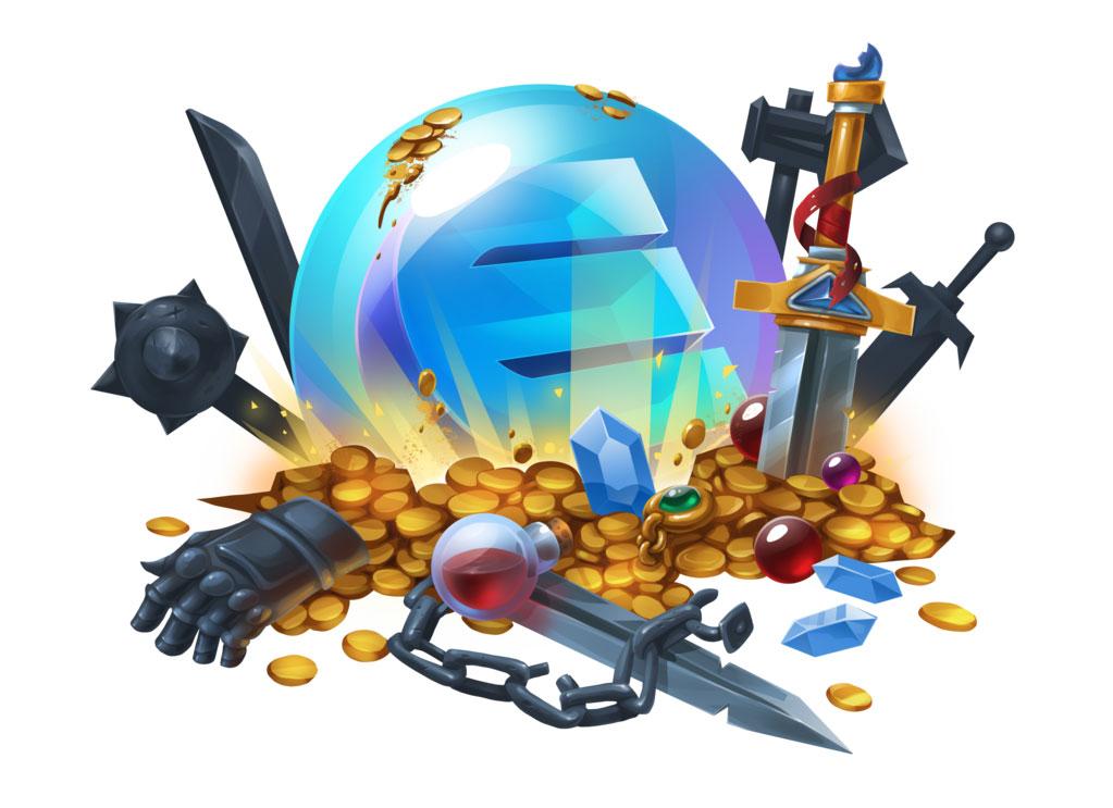 Non-Fungible Blockchain Game Items