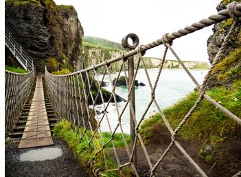 Carrick-A-Rede Rope Bridge on N Ireland tour