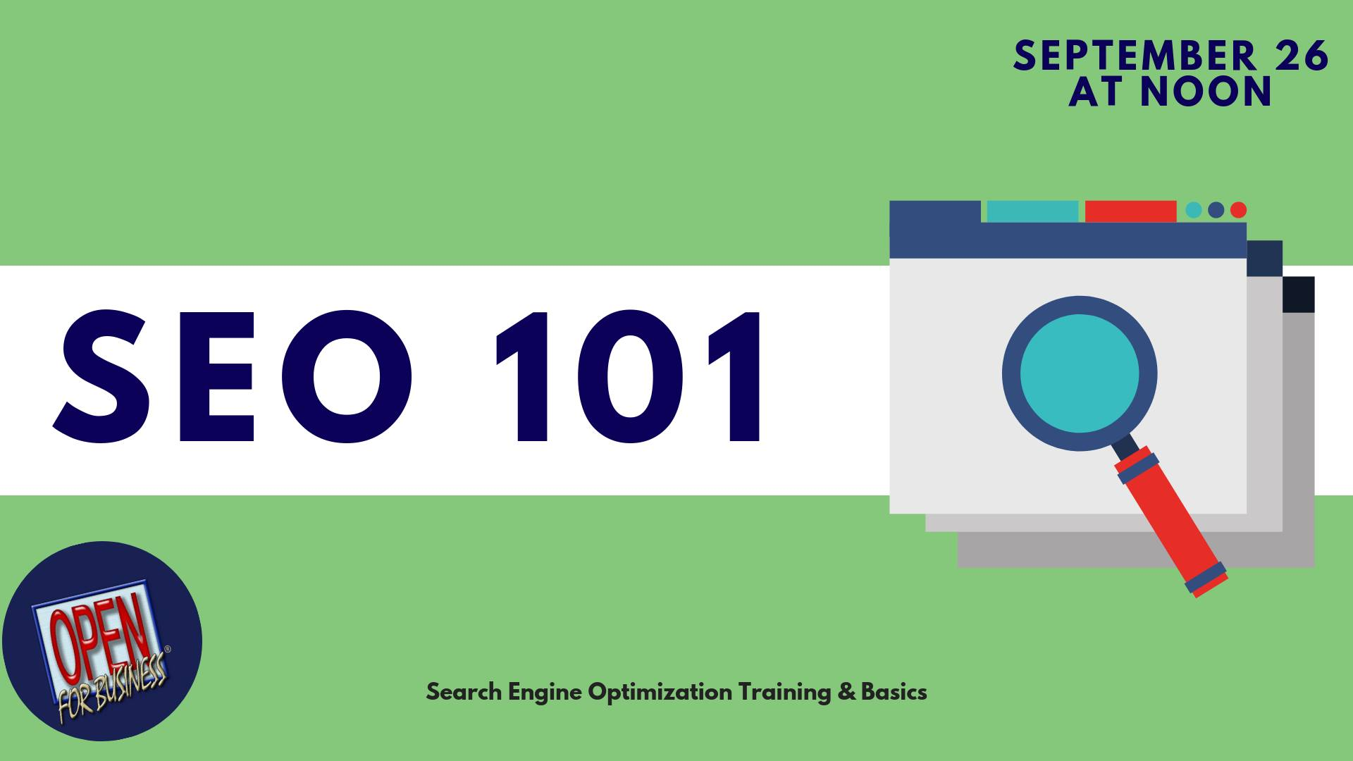 Open For Business SEO 101