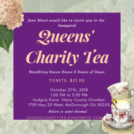 Queens Charity Tea Invite