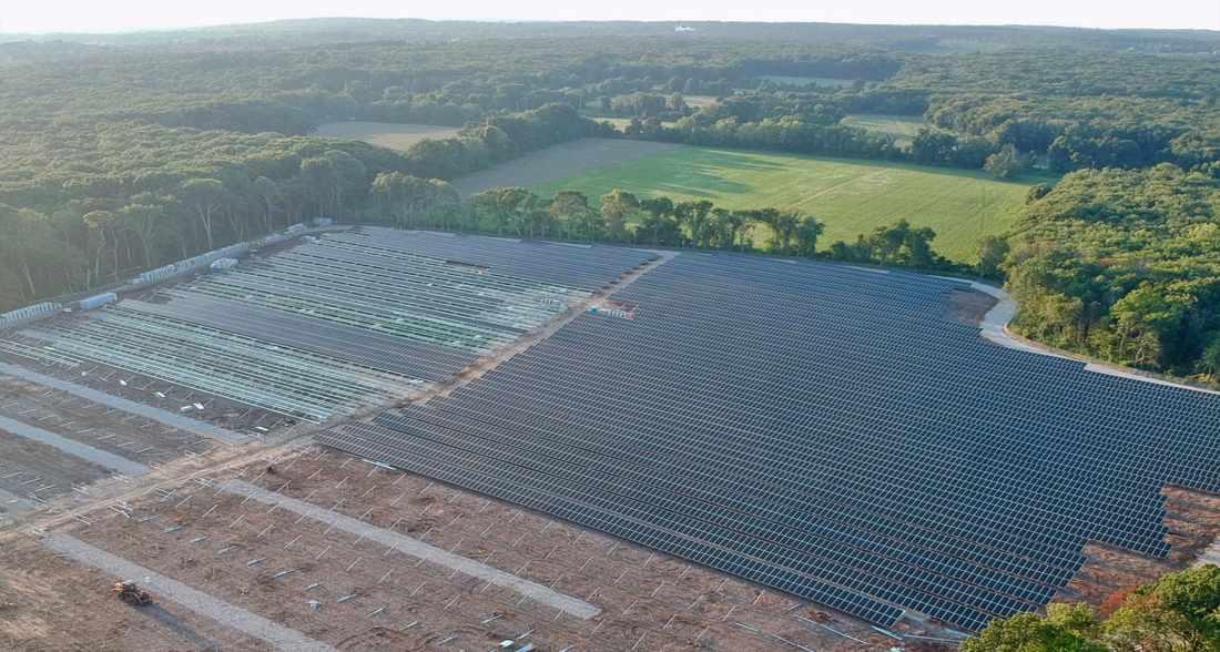 Gold Meadow Farms solar project in Cranston, Rhode Island