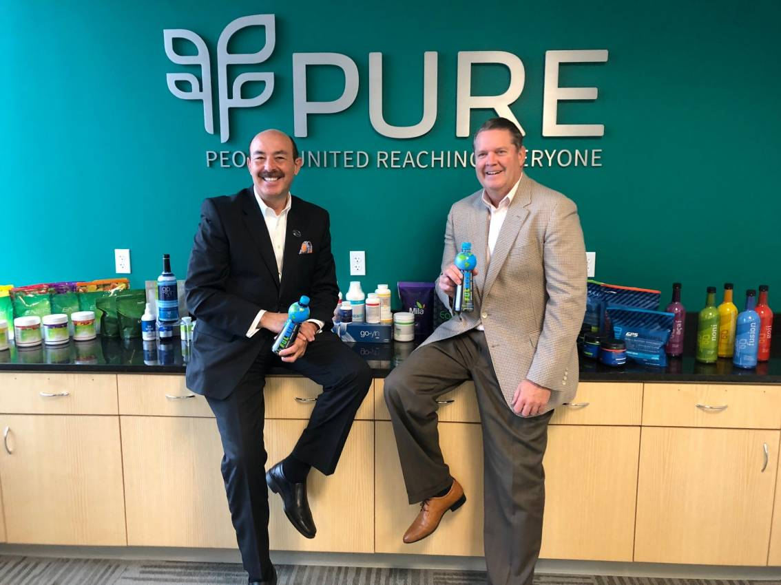 EarthWater Chairman and CEO, CJ Comu and PURE CEO, Daren Hogge