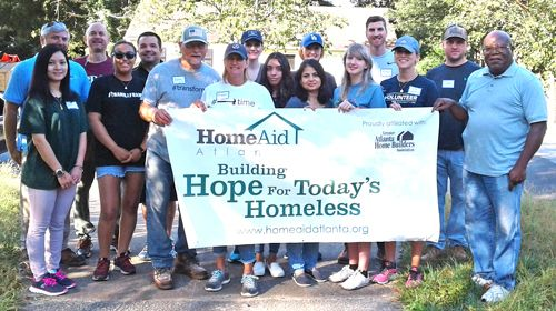 HomeAid Atlanta volunteers on September 7, 2018.