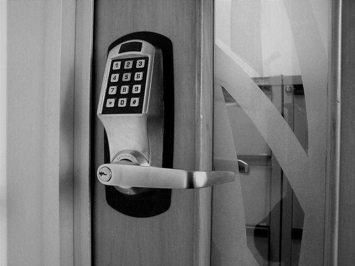 Secure office door