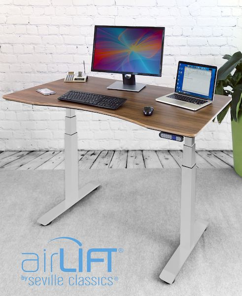 Seville Classics AIRLIFT® S3 Electric Standing Desk
