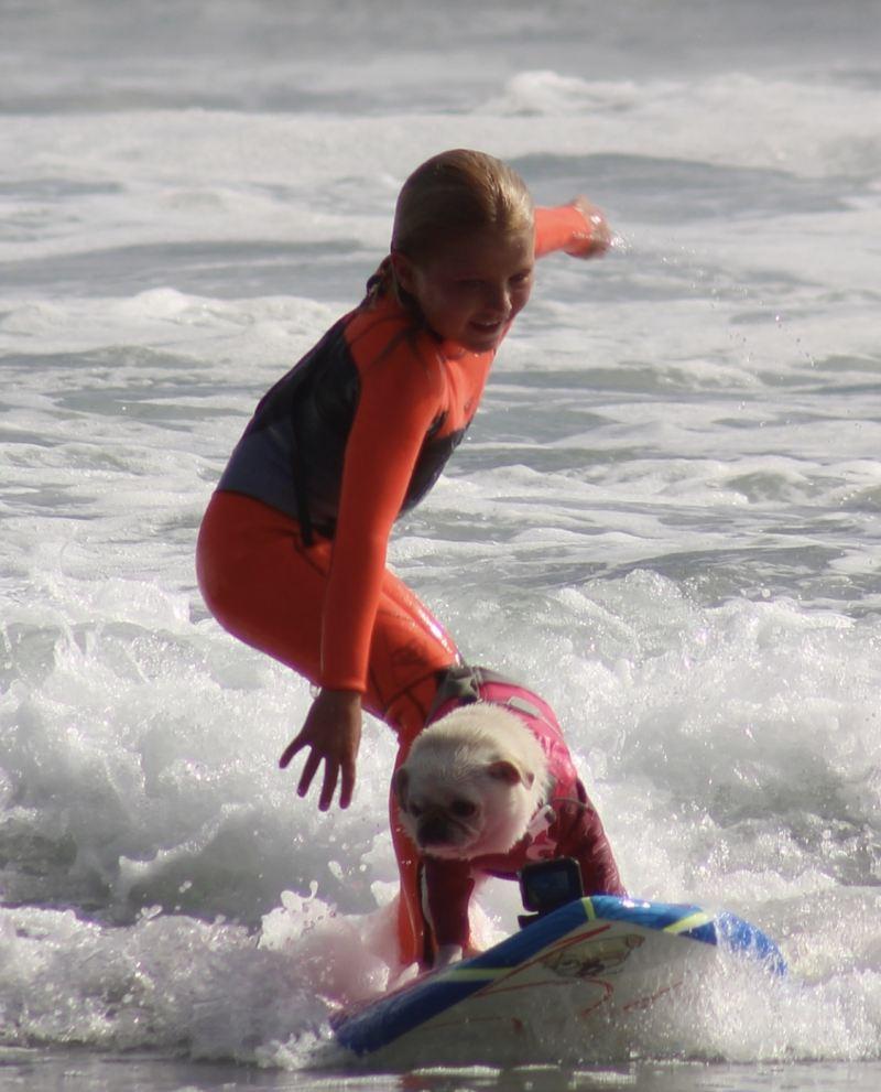 Chesney Guinotte & Surf Gidget The Pug