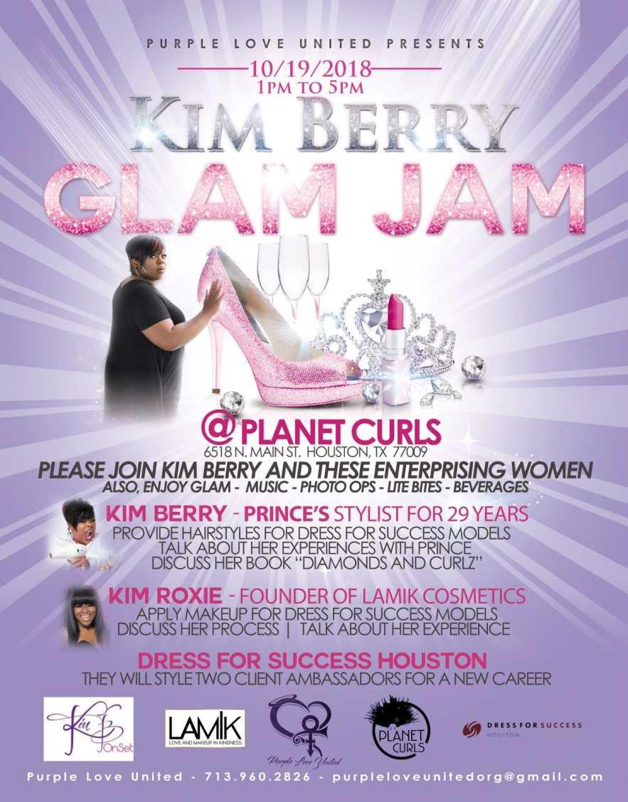 """Kim Berry Glam Slam"" in Houston, Friday, October 19th"