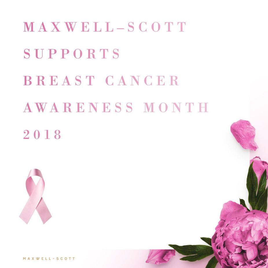 Maxwell-Scott Supports Breast Cancer Awareness Month 2018