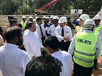 President of Sri Lanka at the groundbreaking ceremony