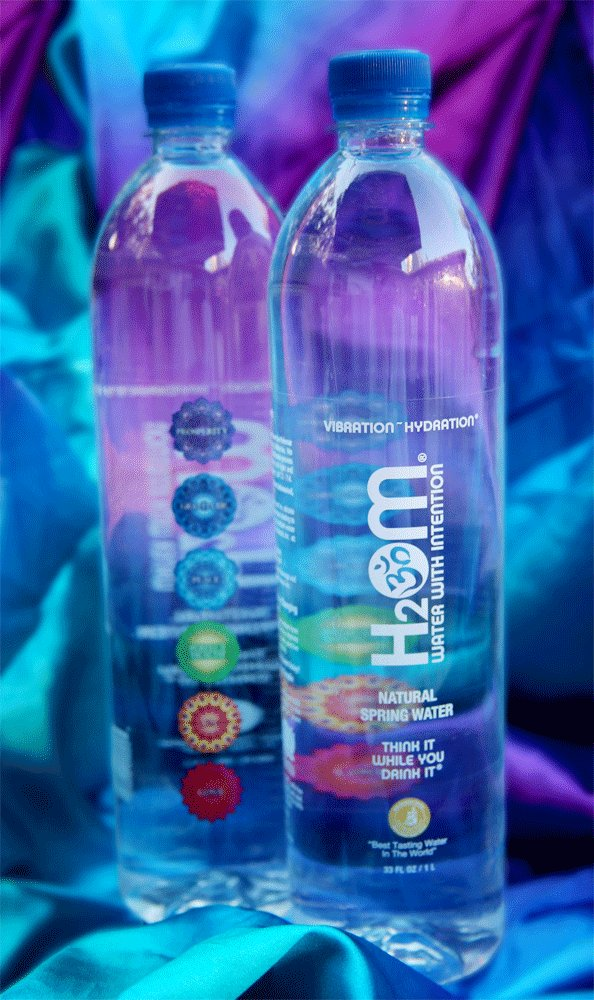 H2Om Water with Intention eco friendly, award winning natural spring water
