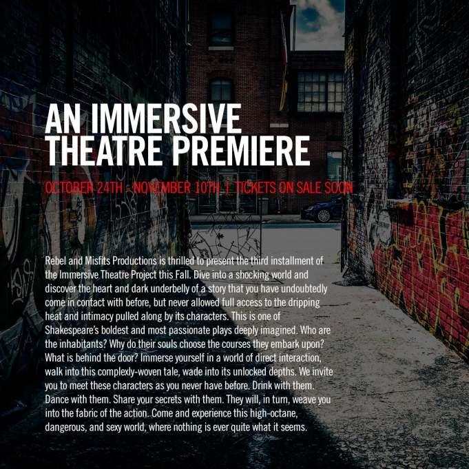 Immersive Theatre Premiere